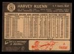 1964 Topps Venezuelan #242   Harvey Kuenn Back Thumbnail