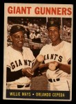 1964 Topps Venezuelan #306  Giants Gunners  -  Willie Mays / Orlando Cepeda Front Thumbnail