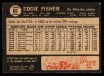 1964 Topps Venezuelan #66   Eddie Fisher Back Thumbnail