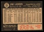 1964 Topps Venezuelan #264   Jim Landis Back Thumbnail