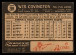 1964 Topps Venezuelan #208   Wes Covington Back Thumbnail