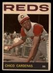 1964 Topps Venezuelan #72  Leo 'Chico' Cardenas  Front Thumbnail