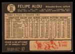 1964 Topps Venezuelan #65   Felipe Alou Back Thumbnail