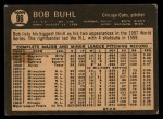 1964 Topps Venezuelan #96  Bob Buhl  Back Thumbnail