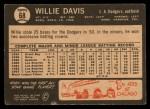 1964 Topps Venezuelan #68   Willie Davis Back Thumbnail