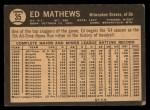 1964 Topps Venezuelan #35  Eddie Mathews  Back Thumbnail