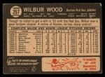 1964 Topps Venezuelan #267  Wilbur Wood  Back Thumbnail