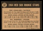 1964 Topps Venezuelan #287   Red Sox Rookies  -  Tony Conigliaro / Bill Spanswick Back Thumbnail