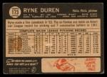 1964 Topps Venezuelan #173   Ryne Duren Back Thumbnail