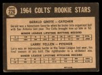 1964 Topps Venezuelan #226   Colts Rookies  -  Jerry Grote / Larry Yellen Back Thumbnail