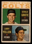 1964 Topps Venezuelan #226   Colts Rookies  -  Jerry Grote / Larry Yellen Front Thumbnail