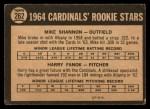 1964 Topps Venezuelan #262   Cardinals Rookie Stars  -  Mike Shannon / Harry Fanok Back Thumbnail