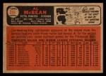 1966 Topps Venezuelan #353   Al McBean Back Thumbnail
