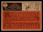 1966 Topps Venezuelan #359   Johnny Briggs Back Thumbnail