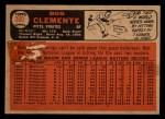 1966 Topps Venezuelan #300  Roberto Clemente  Back Thumbnail