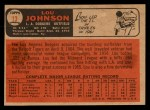 1966 Topps Venezuelan #13  Lou Johnson  Back Thumbnail