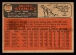 1966 Topps Venezuelan #198   Mickey Stanley Back Thumbnail