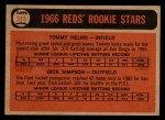 1966 Topps Venezuelan #311  Reds Rookies  -  Tommy Helms / Dick Simpson Back Thumbnail