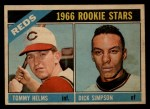 1966 Topps Venezuelan #311  Reds Rookies  -  Tommy Helms / Dick Simpson Front Thumbnail