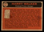 1966 Topps Venezuelan #318   Harry Walker Back Thumbnail