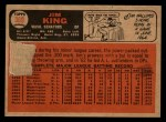 1966 Topps Venezuelan #369   Jim King Back Thumbnail