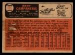 1966 Topps Venezuelan #175   Bert Campaneris Back Thumbnail