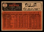 1966 Topps Venezuelan #158   Jim Brewer Back Thumbnail