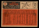 1966 Topps Venezuelan #208  Bob Miller  Back Thumbnail