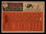 1966 Topps Venezuelan #18   Roland Sheldon Back Thumbnail