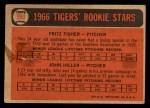 1966 Topps Venezuelan #209   -  Fritz Fisher / John Hiller Tigers Rookies Back Thumbnail
