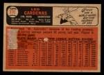1966 Topps Venezuelan #370  Leo 'Chico' Cardenas  Back Thumbnail