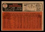 1966 Topps Venezuelan #293   Mike Shannon Back Thumbnail