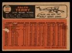 1966 Topps Venezuelan #109   Ralph Terry Back Thumbnail