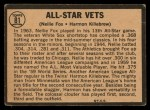1964 Topps Venezuelan #81  All-Star Vets  -  Nellie Fox / Harmon Killebrew Back Thumbnail