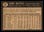 1964 Topps Venezuelan #90   Earl Battey Back Thumbnail