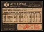 1964 Topps Venezuelan #16   John Boozer Back Thumbnail