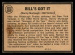 1964 Topps Venezuelan #268  Bill's Got It  -  Bill Virdon / Danny Murtaugh Back Thumbnail