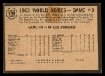 1964 Topps Venezuelan #138   1963 World Series - Game #3 - L.A. Takes 3rd Straight - Ron Fairly Back Thumbnail