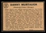 1964 Topps Venezuelan #141   Danny Murtaugh Back Thumbnail