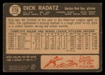 1964 Topps Venezuelan #170   Dick Radatz Back Thumbnail