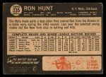 1964 Topps Venezuelan #235   Ron Hunt Back Thumbnail