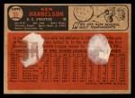 1966 Topps Venezuelan #55   Ken Harrelson Back Thumbnail