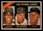 1966 Topps Venezuelan #224   -  Jim Grant / Jim Kaat / Mel Stottlemyre AL Pitching Leaders Front Thumbnail