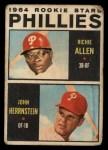 1964 Topps Venezuelan #243   Phillies Rookie Stars  -  Dick Allen / John Herrnstein Front Thumbnail