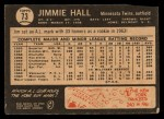 1964 Topps Venezuelan #73  Jimmie Hall  Back Thumbnail