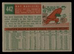 1959 Topps #442  Ray Narleski  Back Thumbnail