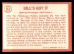 1964 Topps #268  Bill's Got It  -  Bill Virdon / Danny Murtaugh Back Thumbnail
