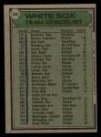 1979 Topps #404  White Sox Team Checklist  -  Don Kessinger Back Thumbnail