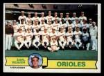 1979 Topps #689  Orioles Team Checklist  -  Earl Weaver Front Thumbnail