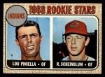 1968 Topps #16   -  Lou Piniella / Richie Scheinblum Indians Rookies Front Thumbnail
